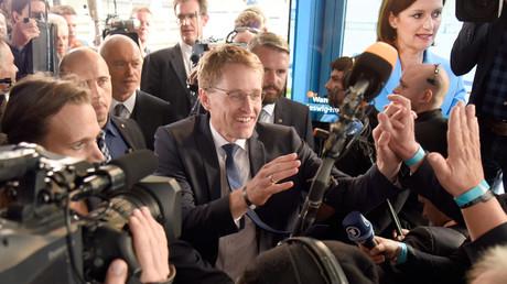 Daniel Günther, Wahlsieger der CDU bei den Landtagswahlen in Schleswig-Holstein, Kiel, Deutschland, 7. Mai 2017.