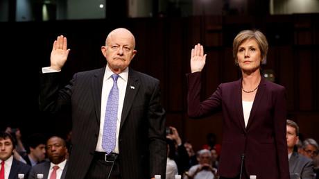 Sagten am Montag vor dem US-Senat aus: Der ehemalige Nationale Geheimdienstdirektor James Clapper und Ex-Justizministerin Sally Yates.