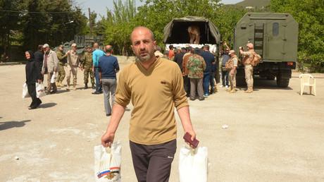 Mehr als 1.500 Syrer erhalten humanitäre Hilfe aus Russland