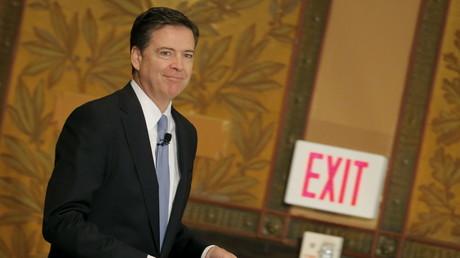 Exit: FBI-Direktor James Comey bei einem Vortrag an der Georgetown Universität in Washington, 26. April 2016.