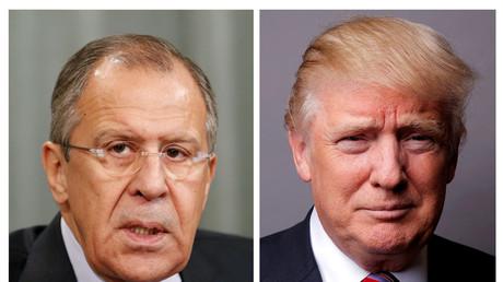 Sendeten Zeichen der Annäherung: Sergei Lawrow und Donald Trump.