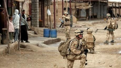 Ein britischer NATO-Soldat in Afghanistan