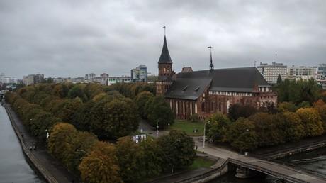 Der Königsberger-Dom auf der Kant-Insel in Kaliningrad.