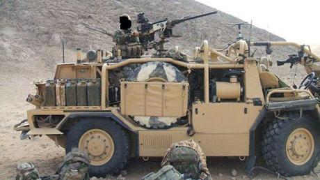 Britische SAS-Spezialeinheiten auf dem stark befestigten Stützpunkt in al-Tanf, Syrien