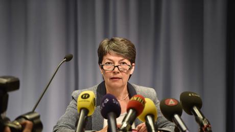 Die Generalstaatsanwältin Marianne Ny in Stockholm; Schweden, 16. Juli 2014.