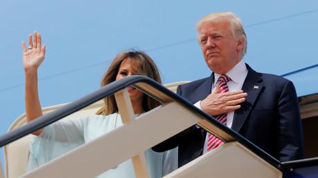 Donald Trump und seine Ehefrau Melania machen sich auf den Weg nach Israel.