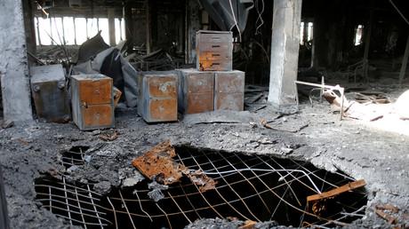 Die einstige zentrale Universitätsbibliothek von Mosul