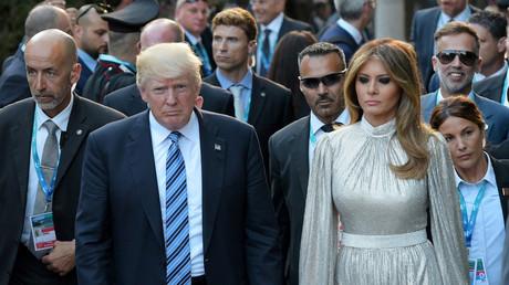 Keine Zeit für Freundlichkeiten: Donald Trump und Ehefrau Melania Trump kommen bei einem Konzert im griechischen Theater in Taormina an, 26. Mai 2017.