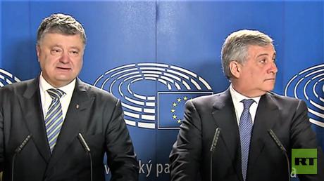 Der Vorsitzende des Europarlaments Antonio Tajani konnte die Freude von Petro Poroschenko über die Einführung der Visa-Freiheit für Ukrainer nicht teilen.