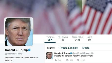 Screenshot von Trumps Twitter-Account