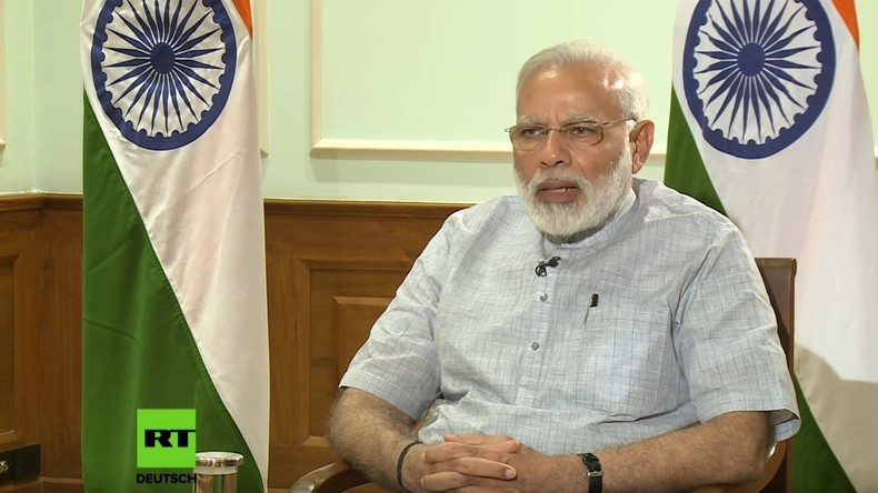 """RT-Exklusiv-Interview mit dem indischen Premierminister: """"Wir wollen ein Land ohne Bargeld"""""""