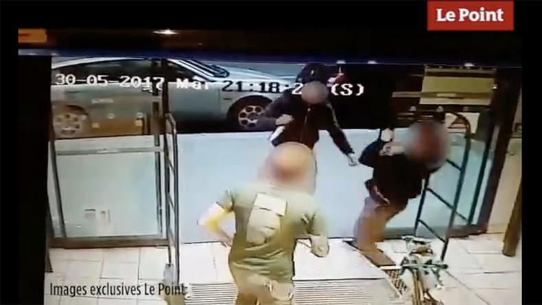 Schockierendes Video aus Paris: Mann in muslimischem Gewand sticht mit Messer auf Bierkäufer ein
