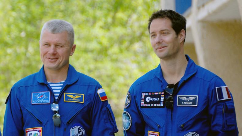 Zwei Raumfahrer fliegen von ISS zur Erde zurück