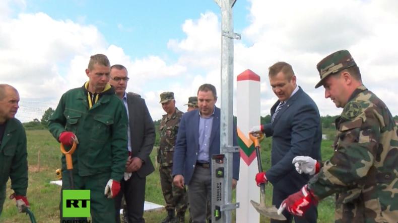 """""""Die Menschen wollen keine Mauern"""": Litauen errichtet Grenzzaun zu Russland"""