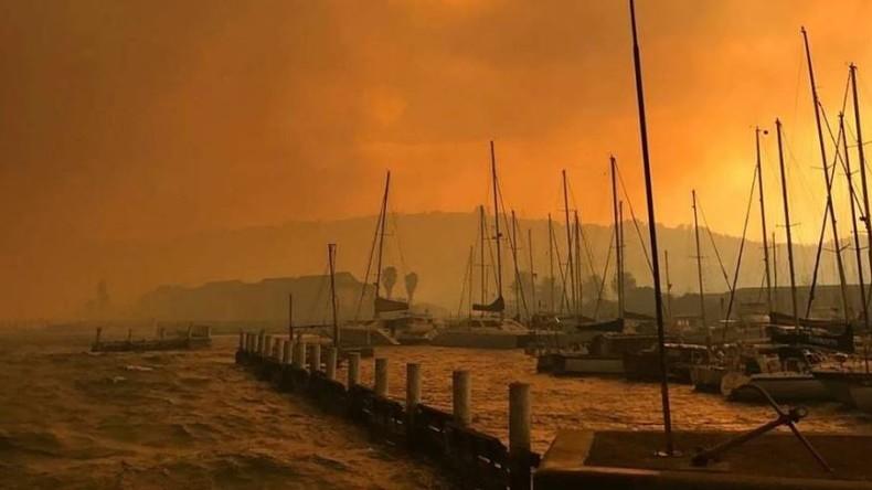 Buschbrände in Touristenregion in Südafrika