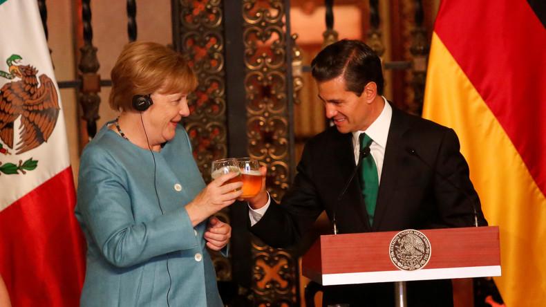 Angela Merkel dankt Mexiko für sein klares Bekenntnis zum Freihandel
