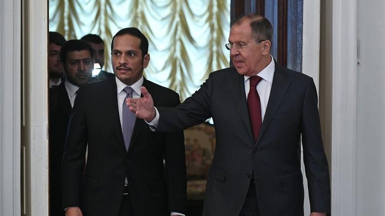 """Russlands Außenminister Sergei Lawrow: """"Die Situation um Katar ist besorgniserregend"""""""
