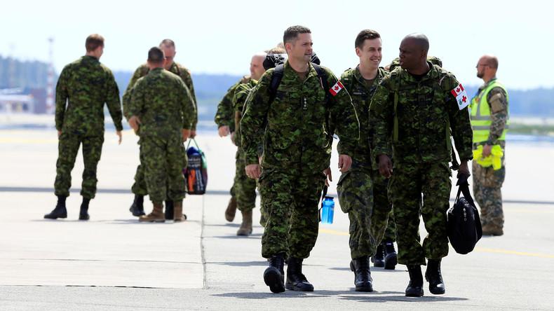 Kanadische NATO-Soldaten treffen in Lettland ein