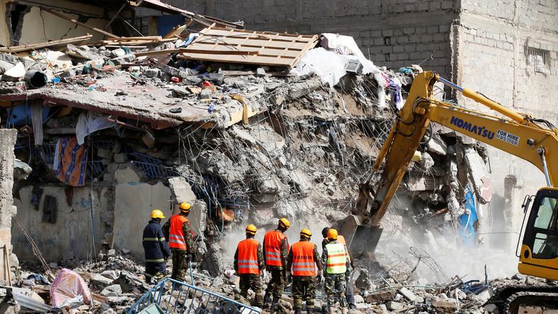 Zehn Vermisste nach Gebäudeeinsturz in Nairobi