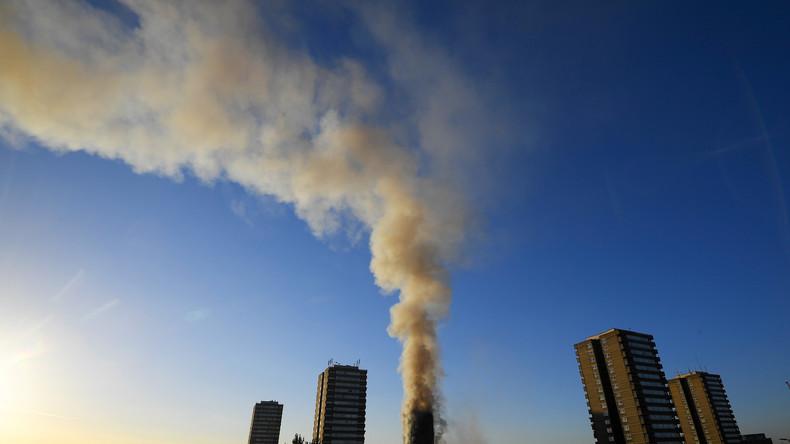 Live: Luftaufnahmen vom Großbrand in London