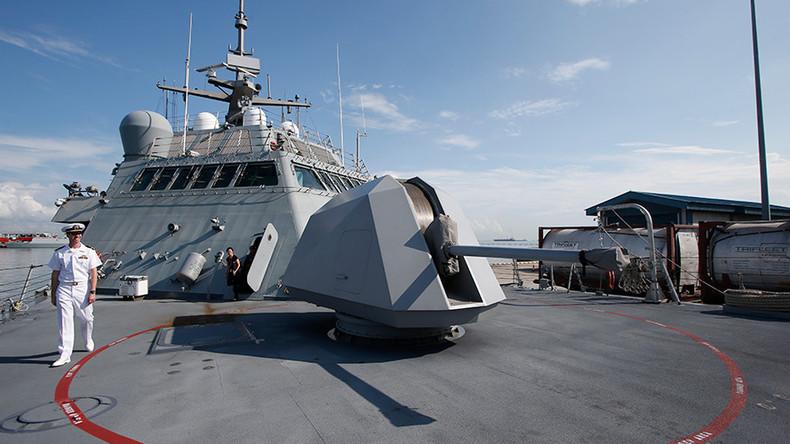 Katar-Krise: Amerikanisches Kriegsschiff trifft in Doha zu Manöver mit Katarern ein