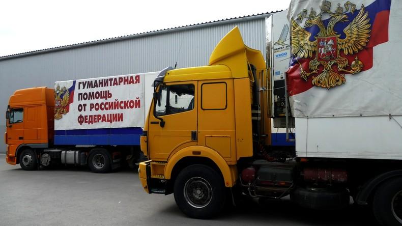 Russland liefert 500 Tonnen humanitäre Hilfe nach Donezk und Lugansk
