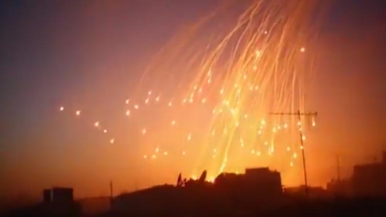 IS-Video zeigt angeblichen Einsatz von Weißem Phosphor durch US-Koalition in Syrien