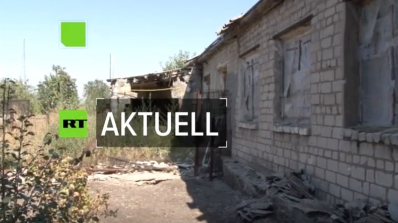 Zum wiederholten Mal beschießt die Ukrainische Armee Städte im Donbass