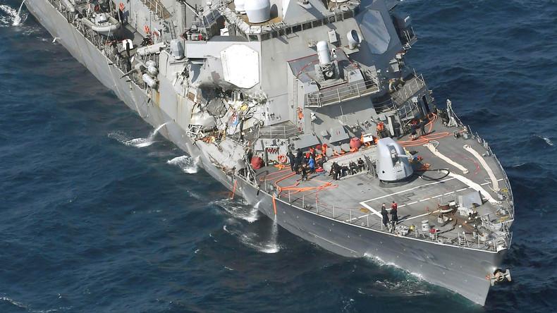 US-Zerstörer kollidiert mit Handelsschiff vor Japan - 7 Vermisste