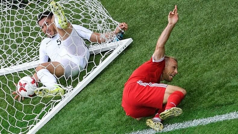 Russland gewinnt mit 2:0 gegen Neuseeland