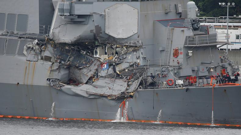 Vermisste US-Seeleute nach Schiffskollision tot aufgefunden