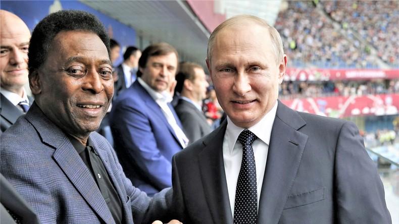 Pelé trifft sich mit Putin: Du musst helfen, Amigo [VIDEO]