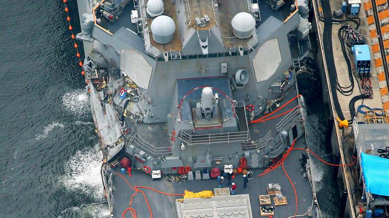 Sieben tote US-Seeleute nach Schiffskollision identifiziert