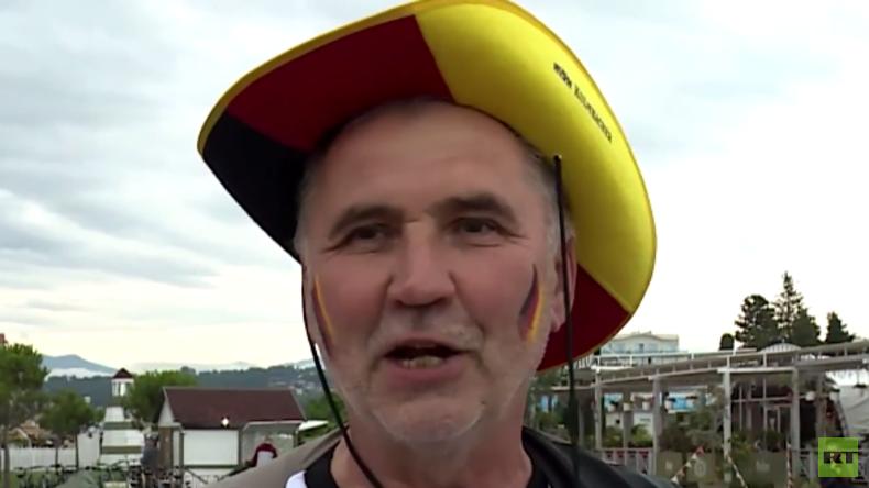 """""""Eine wundervolle Stadt"""" – Deutsche Fans vor dem Spiel gegen Australien"""