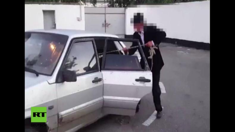 """Russland: Sie werden nie erraten, was diese Diebe auf ihrer Rückbank """"verstecken"""""""