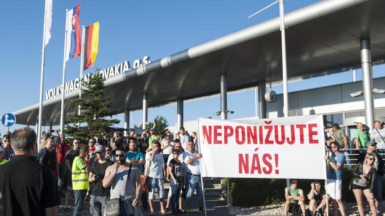Slowakische Volkswagen-Mitarbeiter beginnen Streik