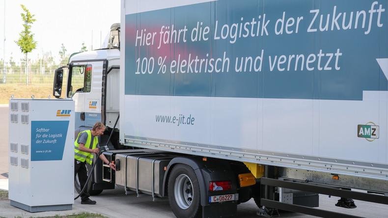 VW und Porsche testen in Zwickau und Leipzig E-Lkw im Werksverkehr