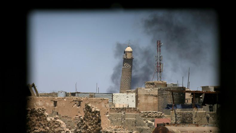 Al-Nuri-Moschee in Mossul gesprengt