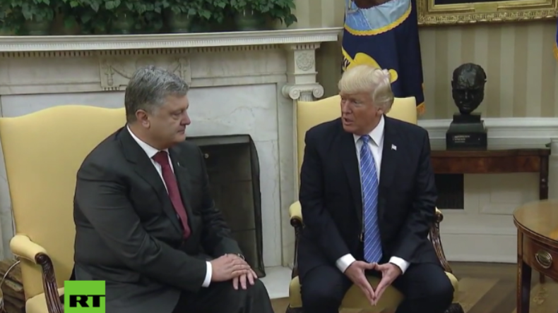 """Treffen zwischen Trump und Poroschenko: """"Wir kämpfen in der Ukraine für Freiheit und Demokratie"""""""