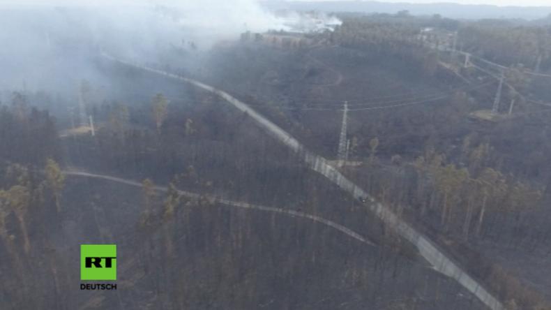 Drohnenvideo zeigt verheerendes Ausmaß nach historischen Waldbränden in Portugal
