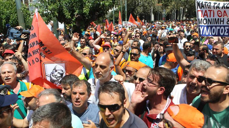 Stinkende Müllberge in Griechenland - Streik dauert an
