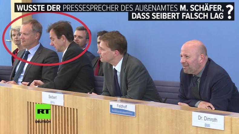 """""""Hey, guck mal, guck mal!"""" - Wusste Außenamtssprecher Schäfer, dass Seibert falsch lag?"""
