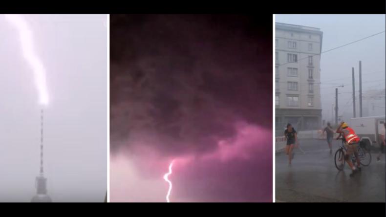 Spektakuläre Video-Aufnahmen: Schwere Unwetter in vielen Teilen Deutschlands