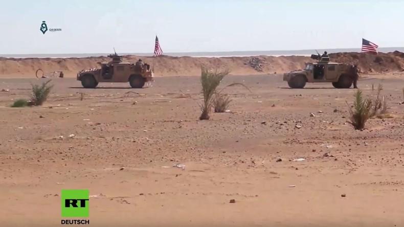 Illegale US-Basis al-Tanf: US-Spezialeinheiten trainieren FSA-Rebellen in Süd-Syrien