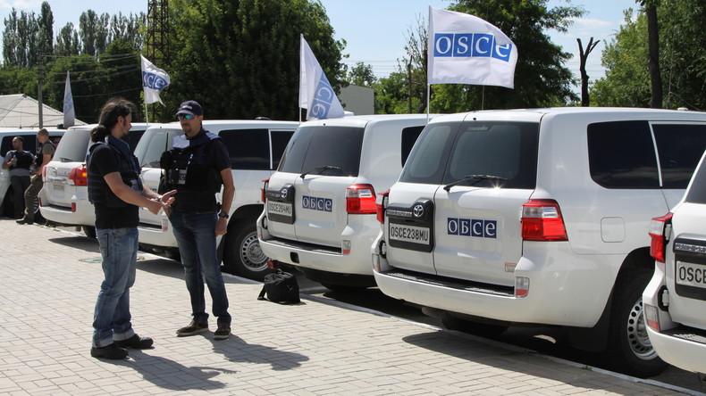 Schüsse und Explosionen unweit von OSZE-Patrouille bei Lugansk