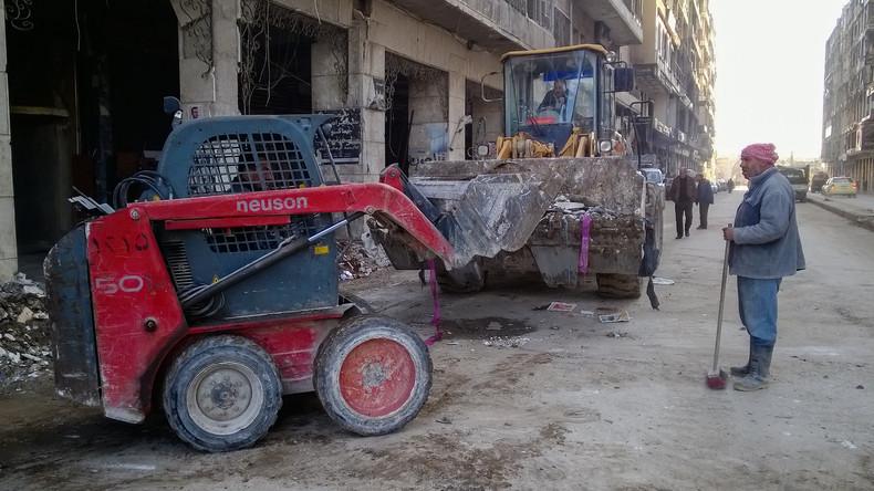 Syrer kehren in vom Krieg zerstörtes Aleppo zurück