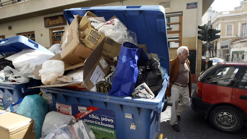 Griechenlands Gesundheitsministerium warnt vor Folgen des Müllarbeiterstreiks