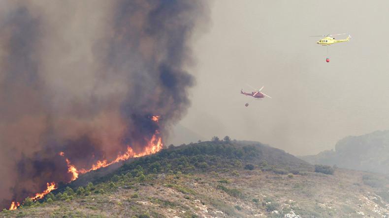 Spanische Behörden evakuieren über 2.000 Menschen wegen Waldbrand