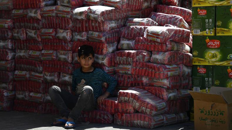 Russland übergibt an Syrer circa fünf Tonnen humanitäre Hilfe