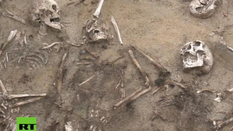 """Polen: Lebendig begraben? - """"Schreiende"""" russische Skelette der Schlacht von Zyrzyn entdeckt"""